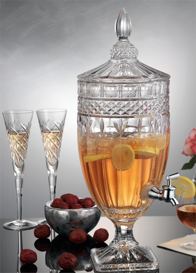 Beverage Dispenser Shannon Crystal Glass Footed Drink