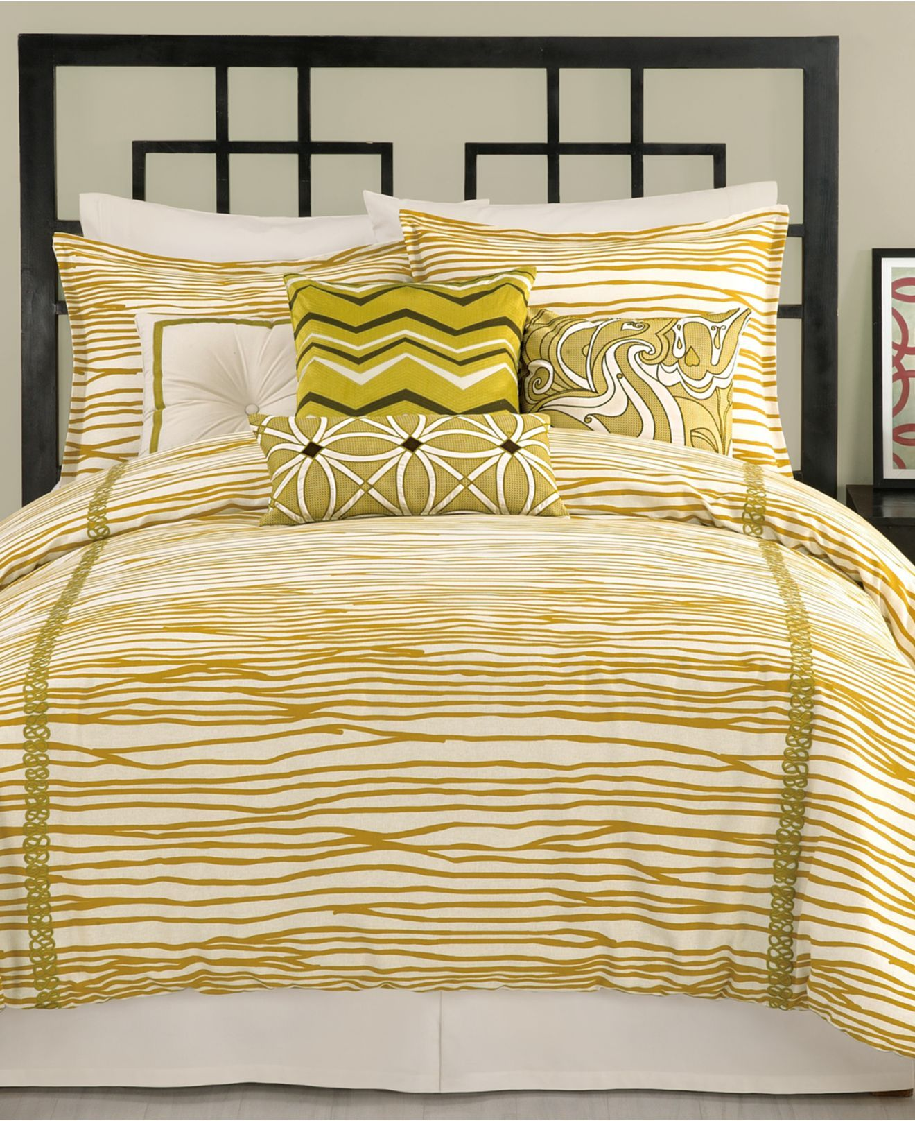 Trina Turk Bedding, Vintage Stripe Comforter Sets - Apartment Bedding - Bed & Bath - Macy's