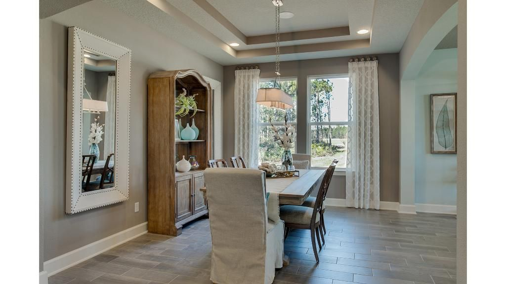 Dining Room With Tray Ceiling The San Pablo Floor Plan Drees
