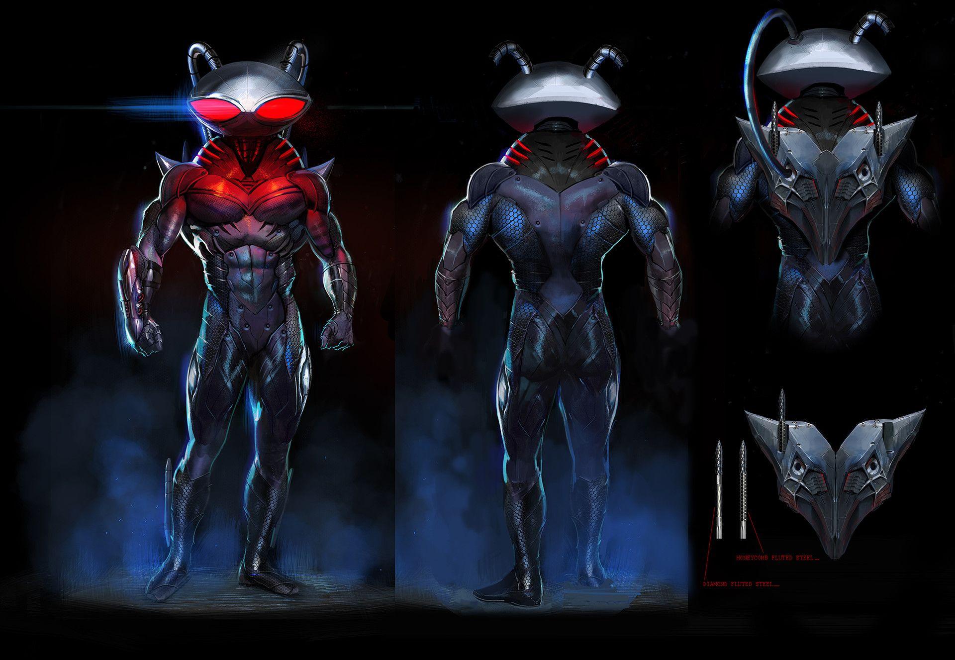 Artstation Black Manta Exploration Marco Nelor Black Manta Character Art Manta