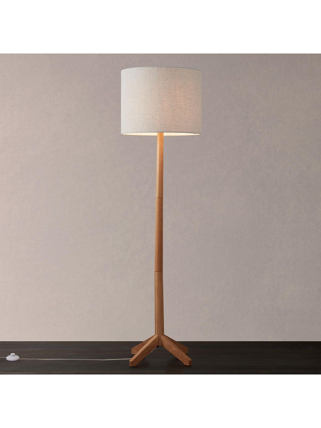 Croft Collection Lachlan Floor Lamp Fsc Certified Oak Oak Floor Lamp Floor Lamp Lamp