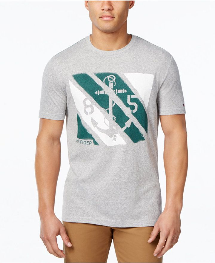 658bc696 Tommy Hilfiger Tommy Hilfiger Men's Big & Tall Graphic-Print T-Shirt ...