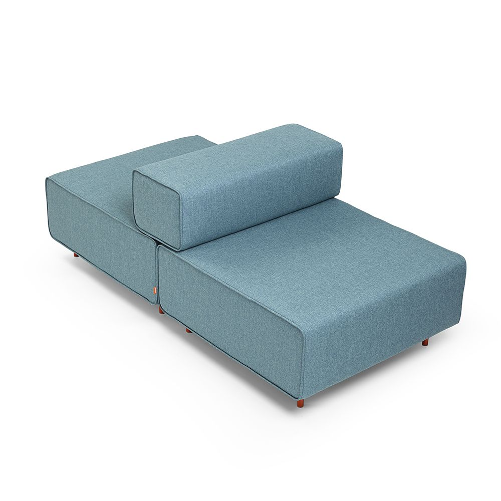 the meet-me-in-the-middle Block Party Lounge Back it Up Chair, Blue