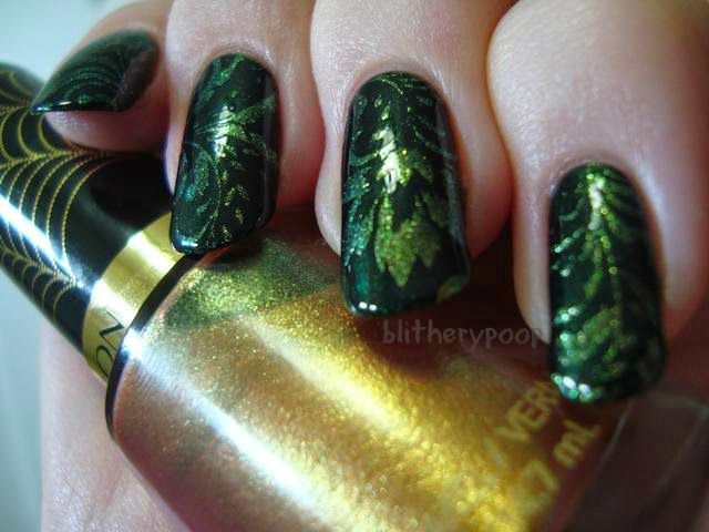 Pretty Girl Science: Embroidered Emerald | Nail Art Inspiration ...