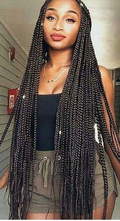 Long Box Braids Braids For Black Women Black Women