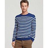 Vince Stripe Pima Cotton Sweater
