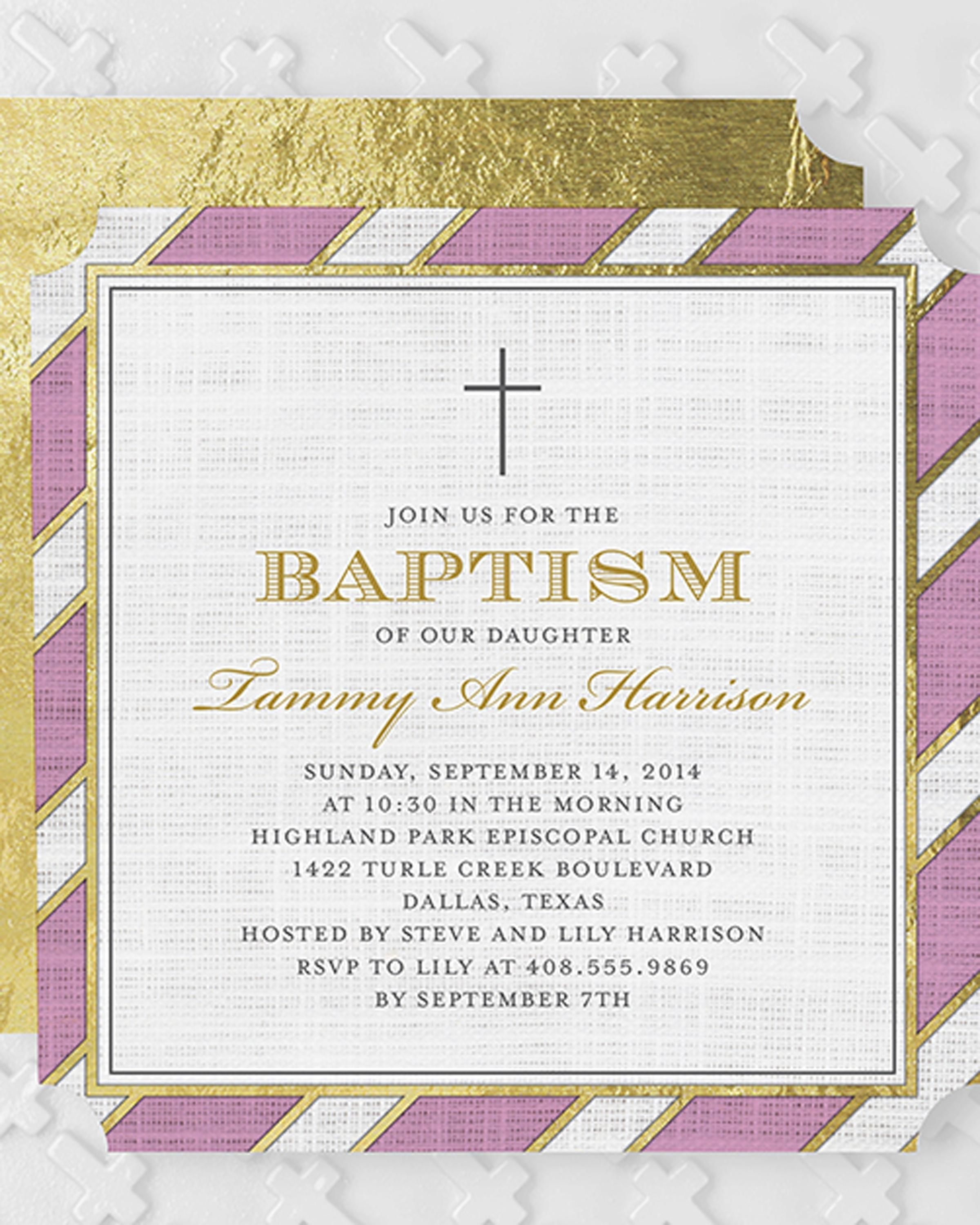 personalize baptism invitations that reflect your little girl s