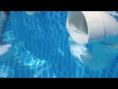 Home Made Surface Skimmer For Above Ground Pool Made With 3 Pvc