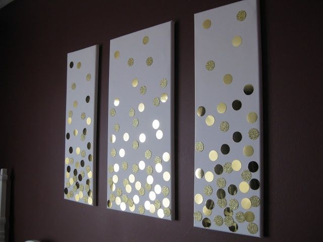DIY confetti wall art for bedroom- this could be really easy with giant  sequins |