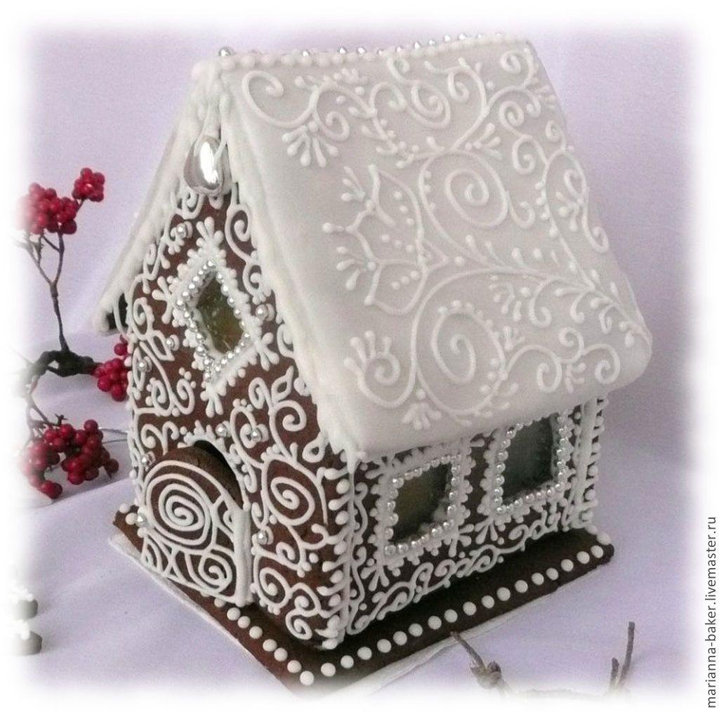Купить Пряничные домики - разноцветный, пряник расписной, пряничный домик, новый год 2015, новогодние подарки