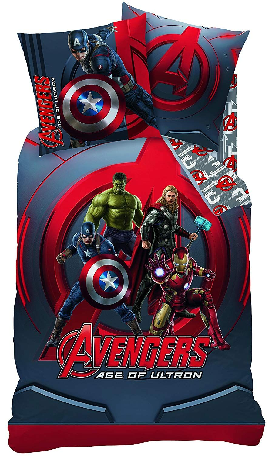 Spiderman Bettwäsche Wende Bettwäsche Set Marvel Avengers Age Of Ultron 135x200cm