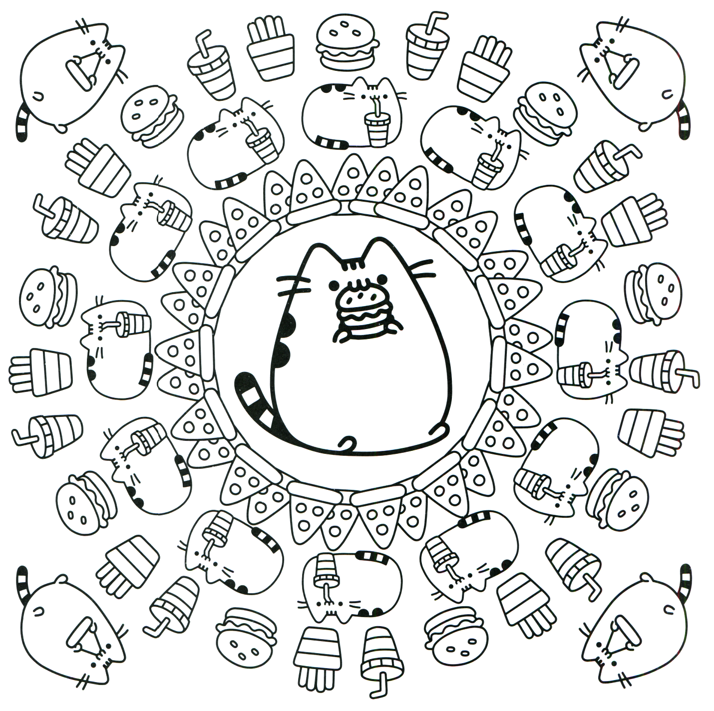 Pusheen Coloring Book Pusheen Pusheen the Cat | caratulas ...