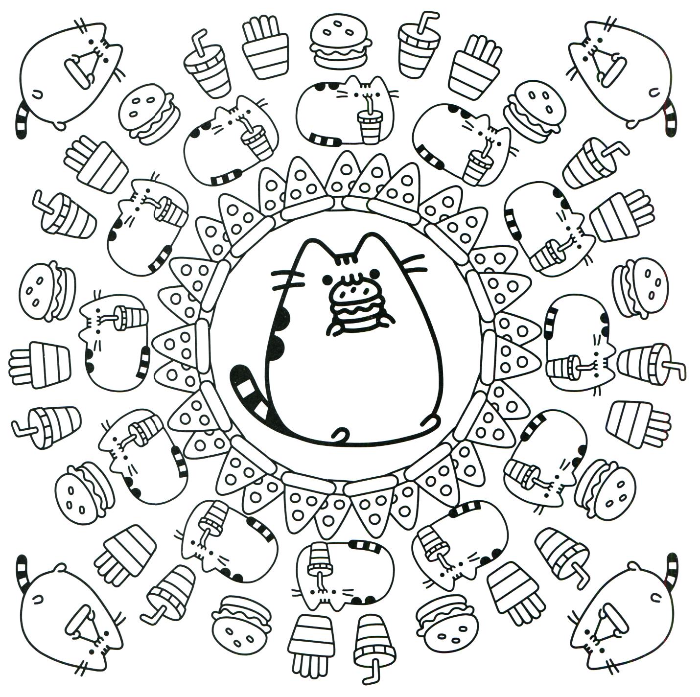 Pusheen Coloring Book Pusheen Pusheen The Cat Pusheen Coloring Pages Cute Coloring Pages Cat Coloring Page