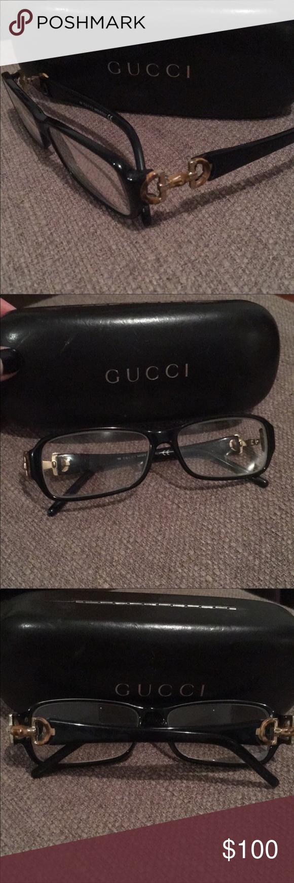 40287e8950cf7 100% Authentic Gucci Eye Glasses w Case. Used Gucci Eye Glasses Bamboo Logo  great condition! Gucci Accessories Glasses