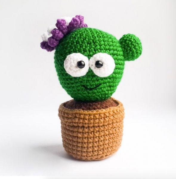 Download Cute Baby Cactus Amigurumi Pattern (FREE) Grátis, inglês ...