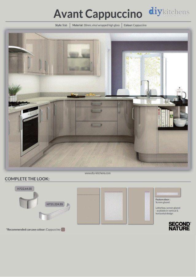 High Gloss Kitchen Cabinets Diy Avant Cappuccino High ...