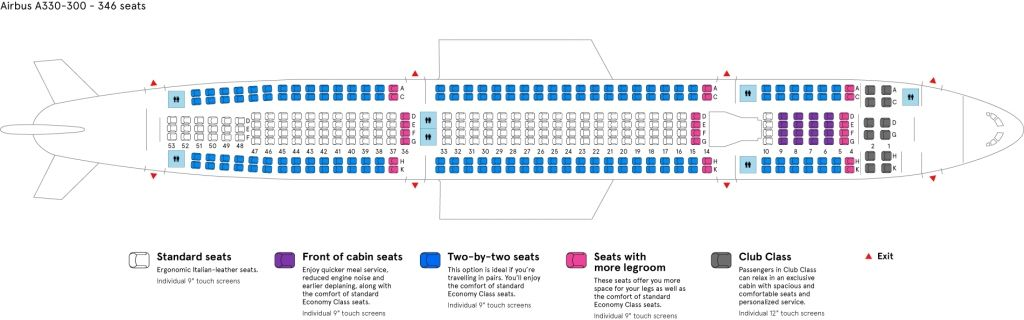 The Most Stylish Along With Attractive Airbus A330 300 Seating Plan Di 2020