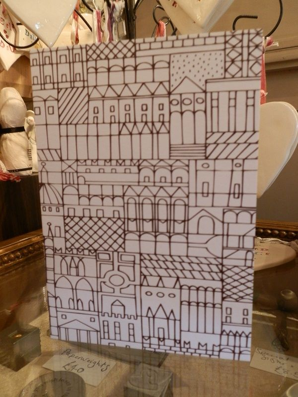 Unusual House design #newhome colour-it-in! card £2.50 from Harriet and Dee 01614382500