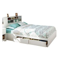 South Shore South Shore Breakwater Queen Bookcase Storage Bed In