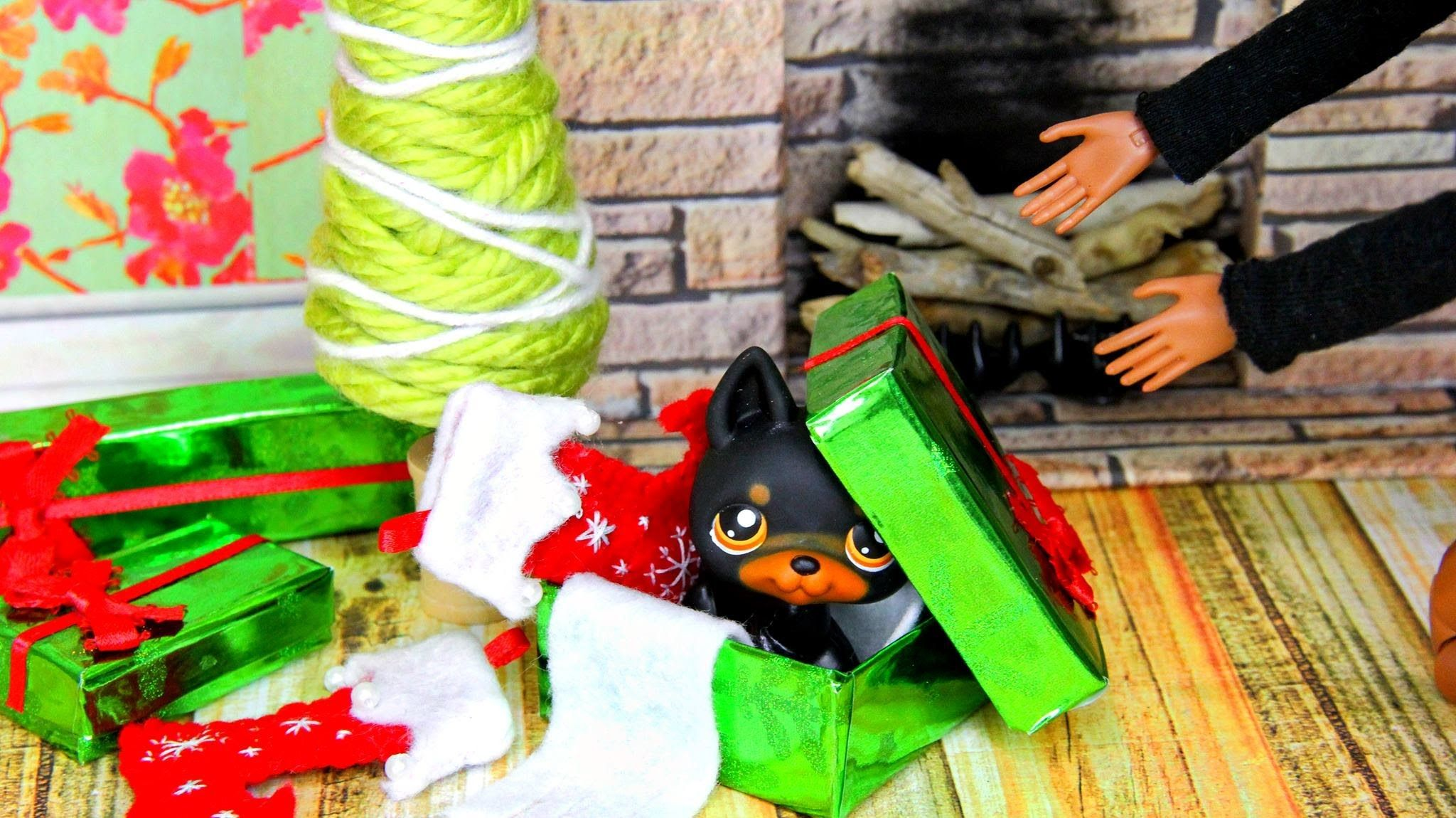 How to Make Doll Holiday Accessories tree Christmas boxes ...