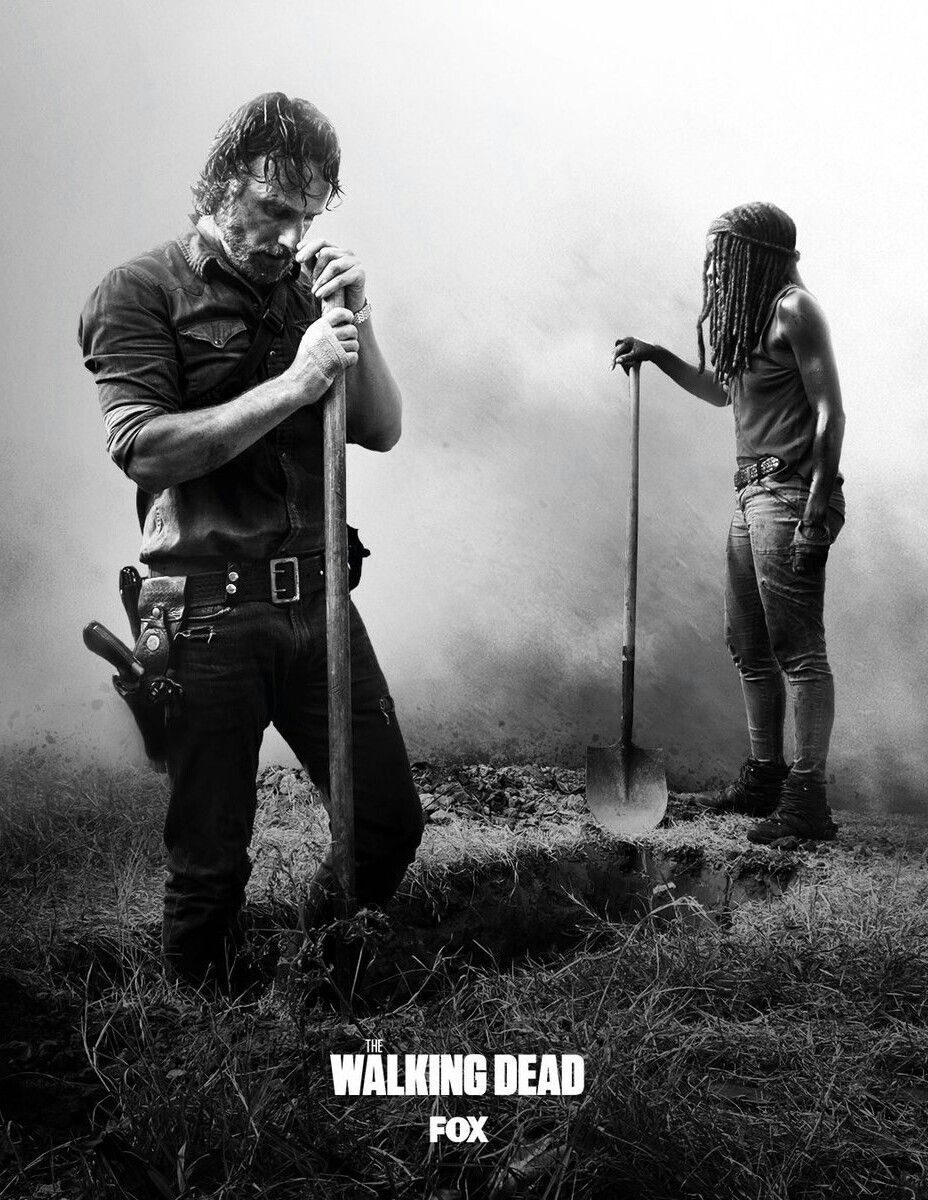 The Burial Of Carl Grimes The Walking Dead Poster The Walking