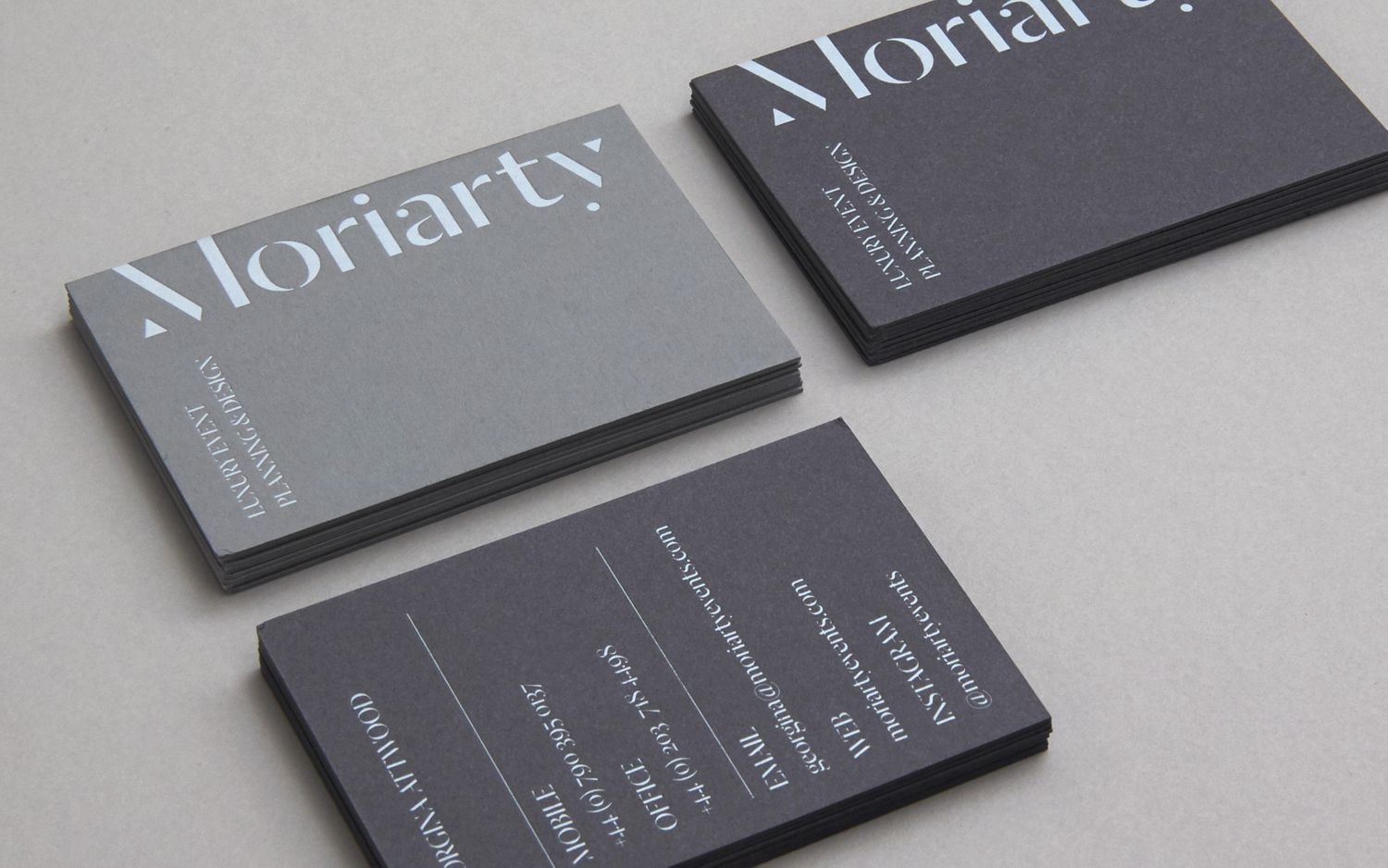 New Logo Brand Identity For Moriarty By Bond Bp O Event Planning Business Cards Event Planner Business Card Event Planning Business