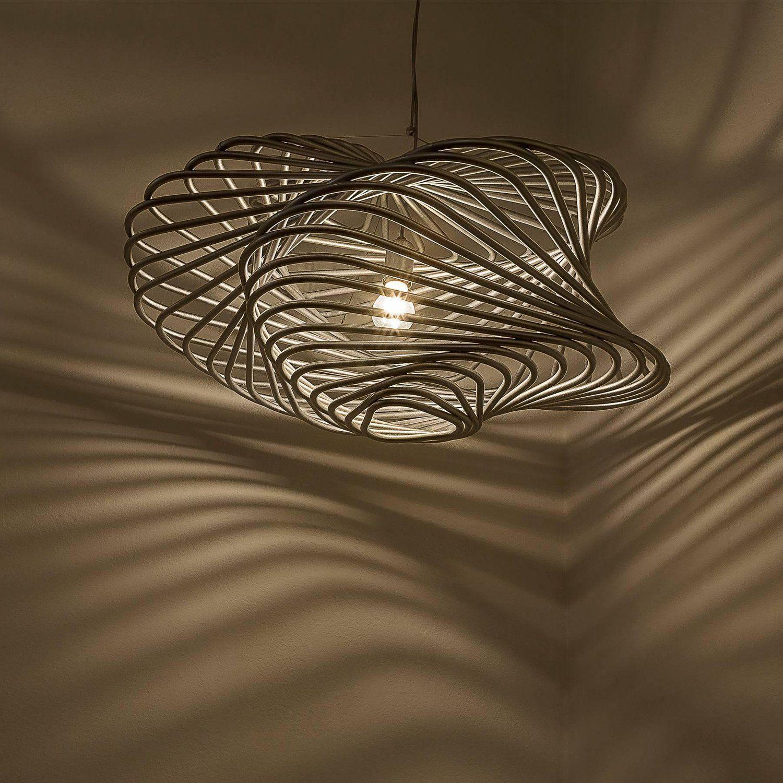 pendant lamp light metallic finishing organic brazilian design