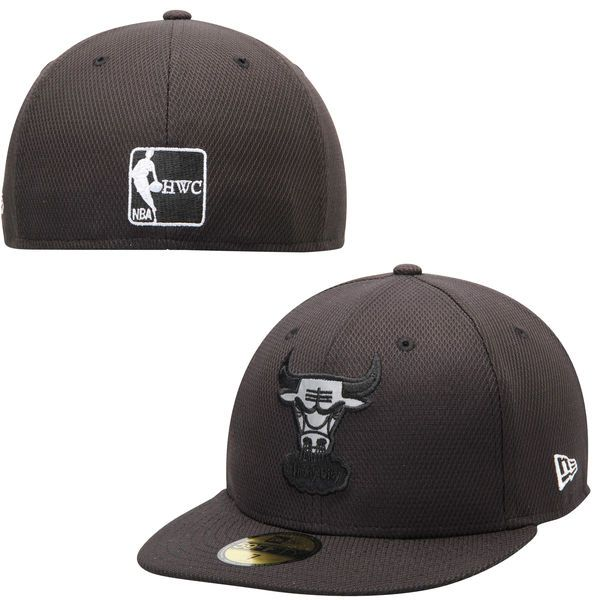aa14a4c7c05 Mens Chicago Bulls New Era Black Reflect Diamond Era 59FIFTY Fitted ...