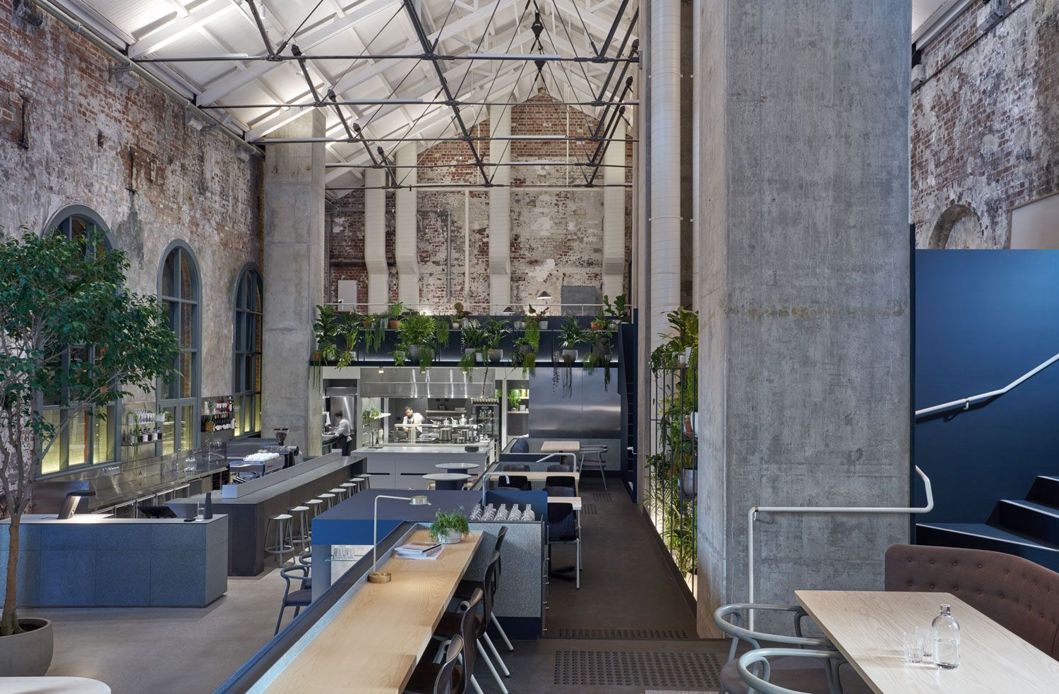 A Bolt Of Design And Hospitality Synergy Enlivens Former Power Station In Central Melbourne With Its Ceiling Higher Ground An All Day Dining