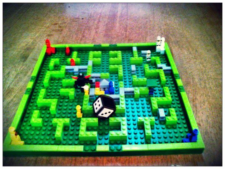 Tablero del juego Minotaurus de Lego #juegosdemesa #infantil #games #boardgames #lego #kids #parcheesi #Ludo #parchís