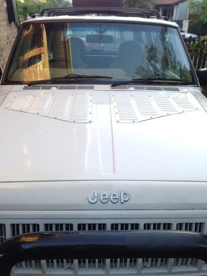 Jeep Xj Cherokee Louver Aluminum Hood Bolton Vent Panels Kit Rodlouvers Cooling Jeep Xj Jeep Bolton