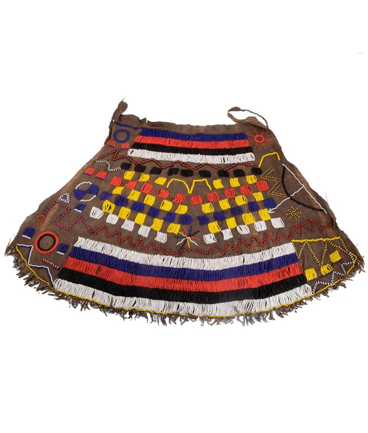 Africa | Skirt from the Iraqw people of Tanzania | Glass beads on leather