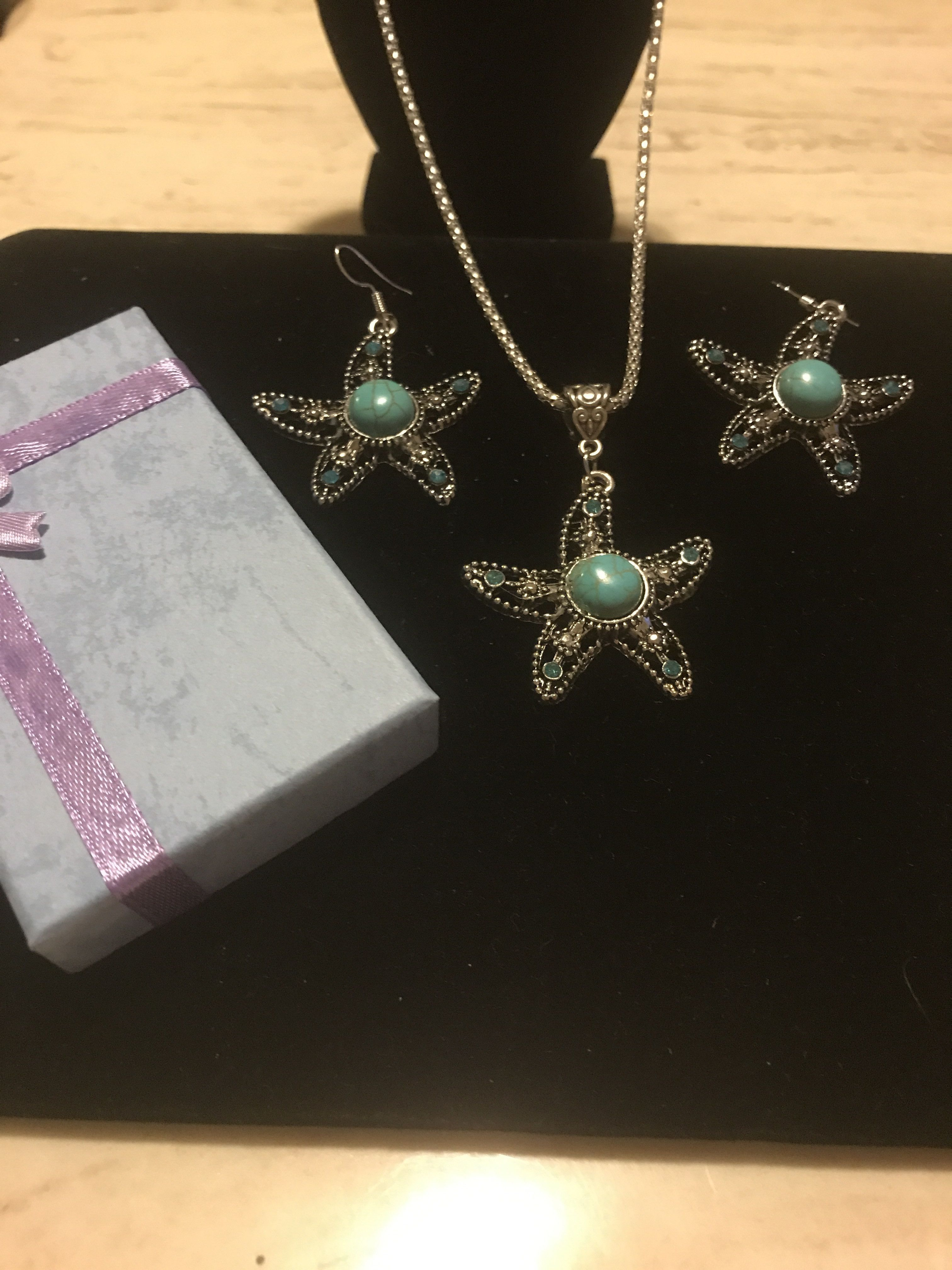 Vintage Tibetan Silver And Turquoise Jewelry Set
