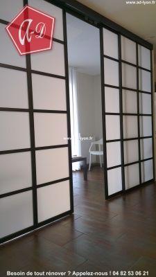 Panneau Japonais Qui Sépare Une Salle Dattente Cloison Japonaise - Porte placard coulissante jumelé avec serrurier paris 75017