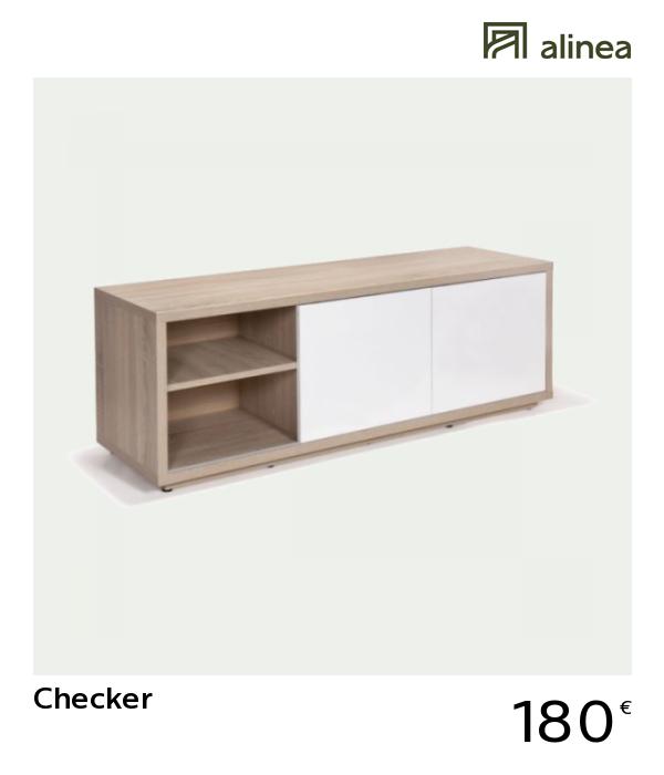 Alinea Checker Meuble Tv Coloris Blanc Et Chene Design Scandinave Meubles Salon Meubles Tv Alinea Deco Deco Meuble Tele Meuble Tv Meuble Tele Design