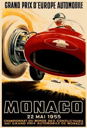 Monaco 1930 Grand Prix Automobile Grand Prix Road Racing Poster 20x30
