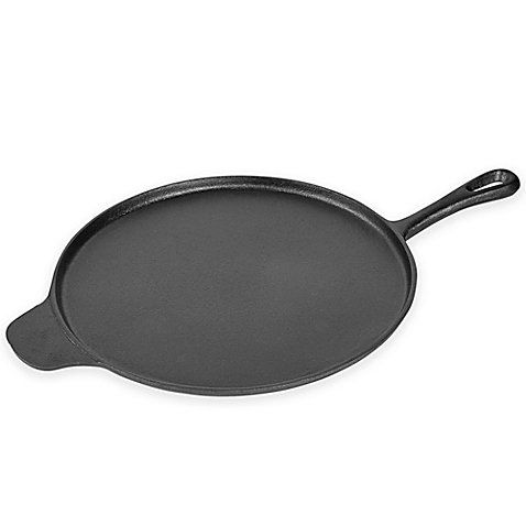 Basic Essentials 12 Inch Round Grill Pan With Assist Handle In Black Griddles Basic Cast Iron