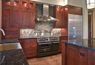 "A 48"" BlueStar Gas Range featured in a Northwest Home. This BlueStar Range includes 6 Burners and a Griddle."