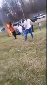 Car Catches Fire on 385 – Memphis, TN