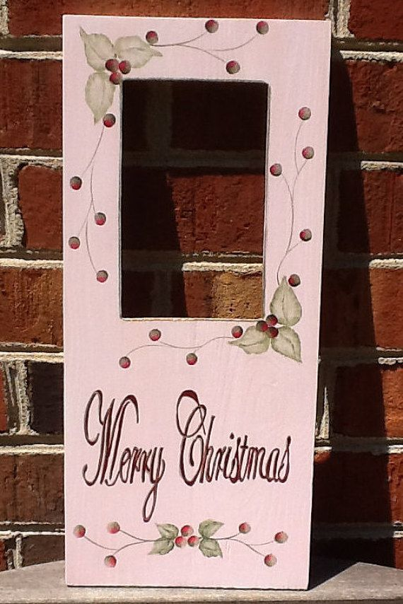 Merry Christmas Picture Frame Wooden Frame by EclecticRush on Etsy