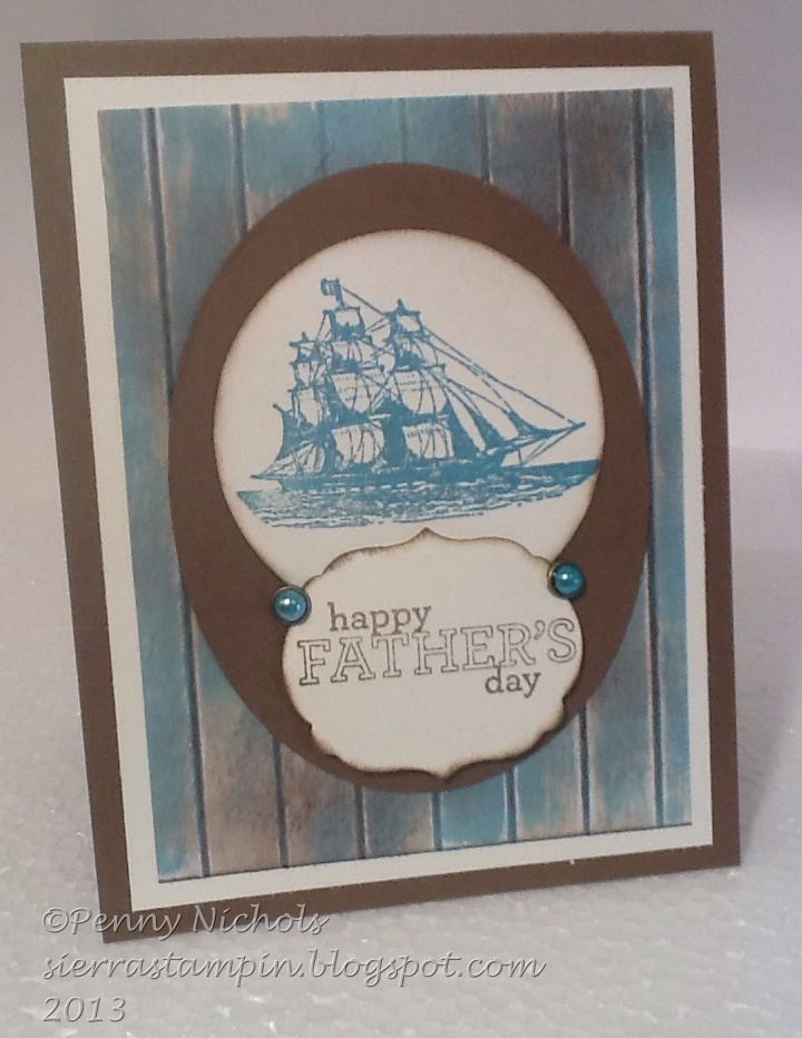 "Father's Day #card made with ""The Open Sea"" by Stampin' Up!"