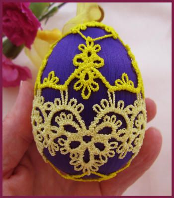 Tatted Easter Egg Covers by Murphy's Designs