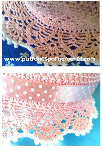 borde-ala-sombrero-panama-ganchillo.jpg (357×515) | Mar-- pamela ...