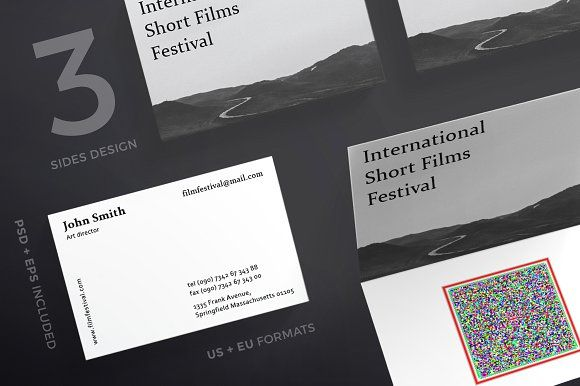 business cards film festival templates the package includes 2 variants of high quality business card templates - Quality Business Cards