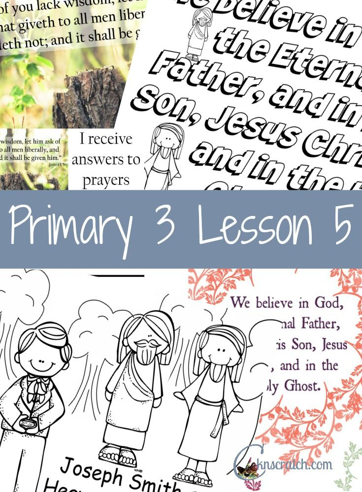 Lesson 5: Joseph Smith Saw Heavenly Father and Jesus Christ ...