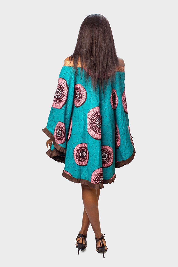 Africain Print Off the Shoulder Dress, African Dress, African Clothing for Women, Ankara Dress, African Womens Clothing, African Womens Dress, African Women Dress