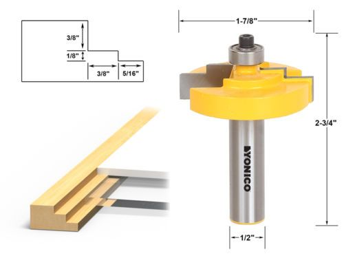 Complete Picture Frame Making Router Bit Set - 1/2\