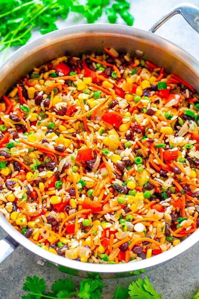Very Veggie Rice And Beans