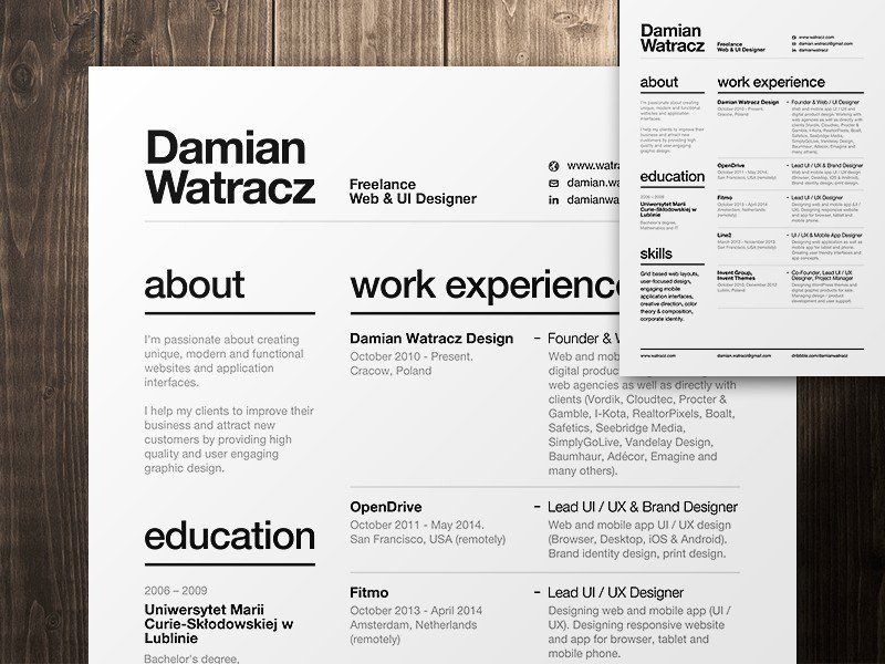 20 Best And Worst Fonts To Use On Your Resume Swiss style - classic resume design