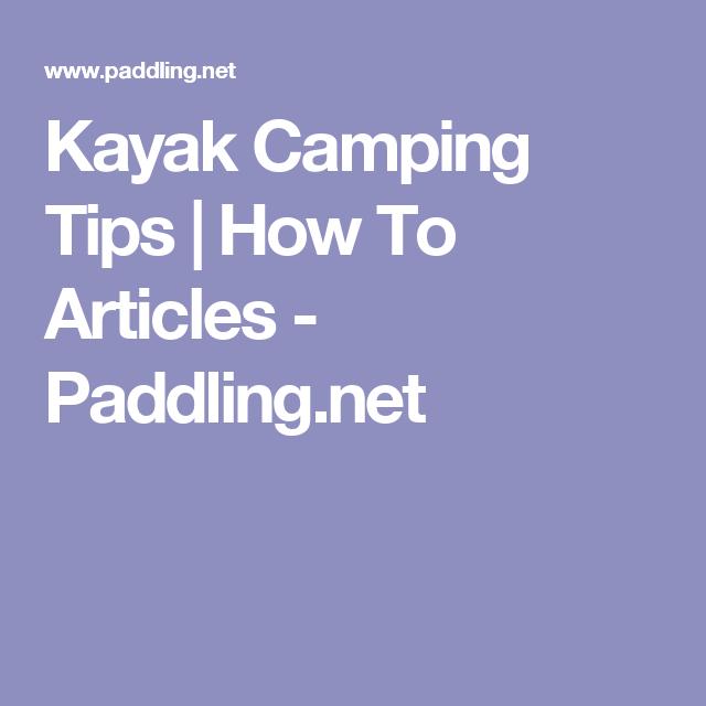 Photo of Kayak Camping Tips